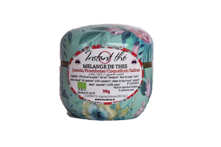 Mélange de thés bio Jasmin-Framboise-Coquelicot-Safran, 30g, 20 tasses