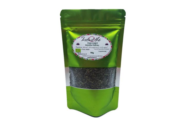Thé vert bio Menthe-Safran, 50g, 35 tasses