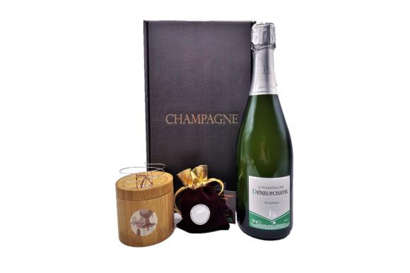 Spécial Saint Valentin ; Coffret Champagne, Safran Et Bracelet Mémoire De Forme