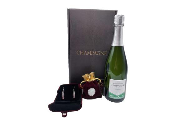 Spécial Saint Valentin : Coffret Champagne, Safran Et Boucle D'oreilles