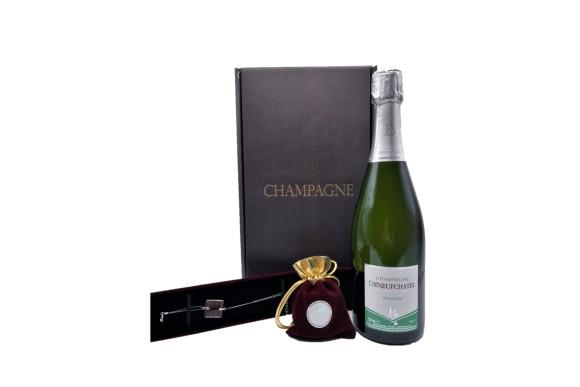 Spécial Saint Valentin ; Coffret Champagne, Safran Et Bracelet Safrané