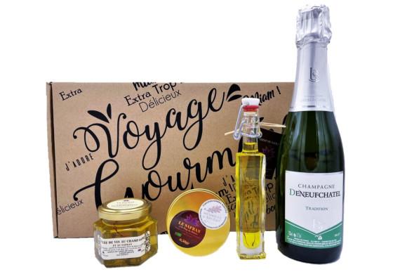 "Coffret rouge ""Champagne & Safran"", 0.50gr"