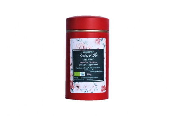 Thé vert bio Menthe-Safran, 100g, 66 tasses