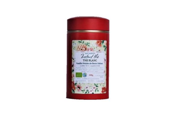Thé blanc bio Vanille-Fleurs-Safran, 100g, 66 tasses