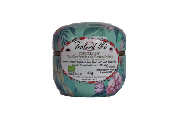 Thé blanc bio Vanille-Fleurs-Safran, 30g, 20 tasses