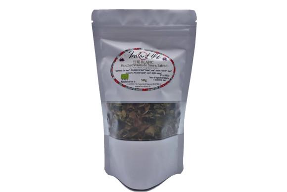 Thé blanc bio Vanille-Fleurs-Safran, 50g, 35 tasses