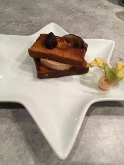Toast pain d'épice, foie gras et gelée de champagne